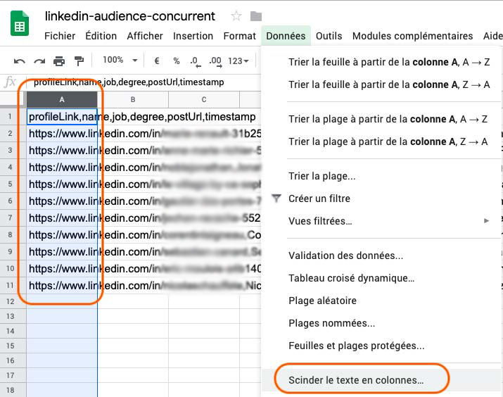 Google Sheet Growth