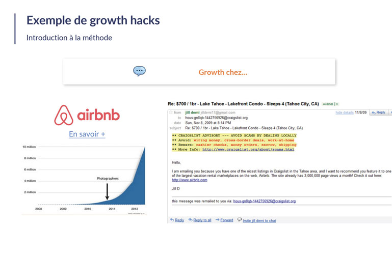 exemple airbnb growth hack